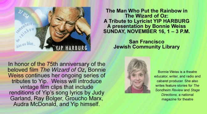Nov. 16, 2014 Yip Harburg Tribute